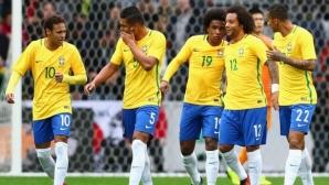 Бразилия загря за Англия с три гола срещу Япония, Неймар отново в центъра на събитията (видео)