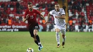 Албания удари Турция, Кабаков показа червен картон (видео)