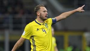 Играчите на Швеция обръснаха главата на капитана си
