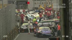 16 коли участваха в най-щурата катастрофа в GT сериите (видео)