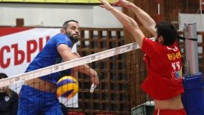 Провокации между Мляков и феновете на ЦСКА, бутилка полетя към волейболиста