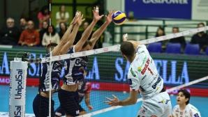 Цецо Соколов с 19 точки, Лубе с победа №7 в Италия (снимки + видео)