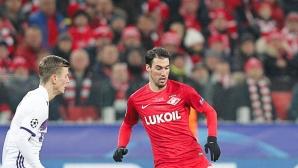 Късен гол попари Попето и Спартак, шансовете на руския тим почти се изпепелиха (видео+галерия)