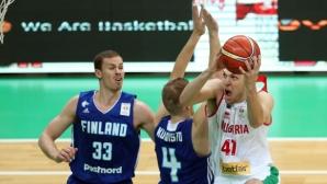 Финландия сервира на България 14 тройки и загуба (галерия)