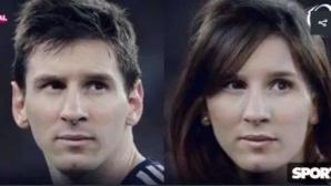 Вижте Лео Меси като жена! Ето как би изглеждал и Кристиано Роналдо като дама (снимки)