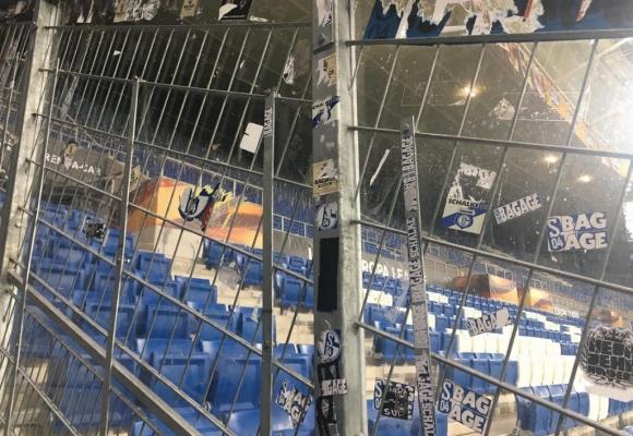 Крути мерки за сигурност в Германия - феновете на Лудогорец в клетка като в Разград (снимки)