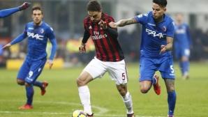 Милан с първа победа при Гатузо