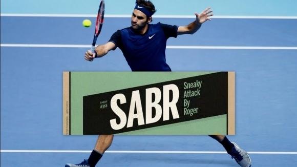 """Най-доброто от прикритата атака """"SABR"""" на Федерер през 2017 (видео)"""