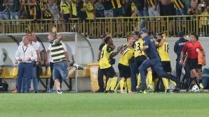 Футболистите на Ботев (Пловдив) предизвикаха еуфория