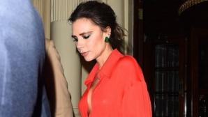 """Виктория без сутиен и с дълбоко деколте на партито на """"Vogue"""" (снимки)"""