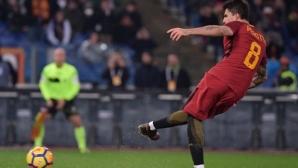 Рома измъкна късен успех срещу Каляри (видео)