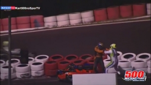 Картинг пилоти се сбиха на пистата още преди края на състезание (видео)