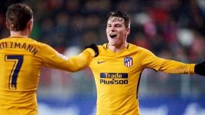 Атлетико остана първи преследвач на Барса след много пот в Ейбар (видео)