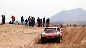 Дакар, ден 8: Петерханзел най-бърз, но все още далеч от Сайнц (видео)