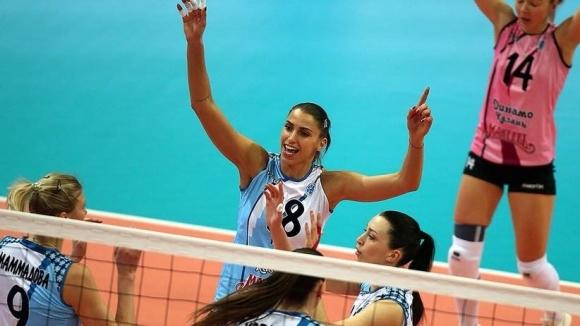 Елица Василева и Динамо (Казан) с победа №14 в Русия (видео)