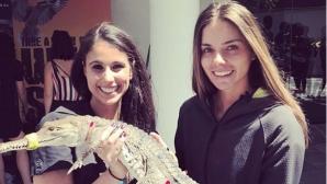 Вики Томова се сприятели с крокодил