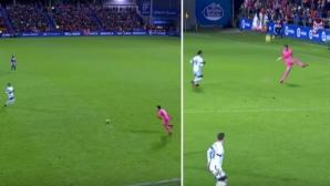 Невероятно! Вратар вкара потресаващ гол на рождения си ден (видео)