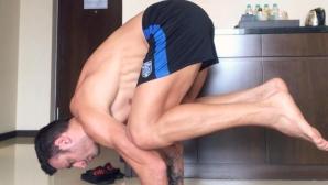Берба отново се отдаде на йогата