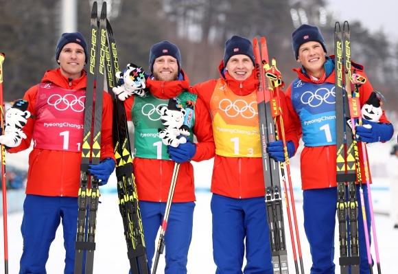 Норвегия спечели олимпийската титла в щафетата на 4 по 10 км