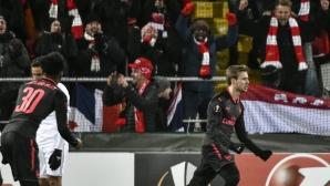 Арсенал си поигра с Йостерсунд и чака 1/8-финалите (видео)