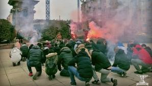 """""""Офанзива"""" се събра - цесекарите запалиха факли и пяха химна"""
