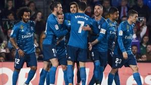 Реал Мадрид страда, но спечели в шоуто с осем гола в Севиля (видео)