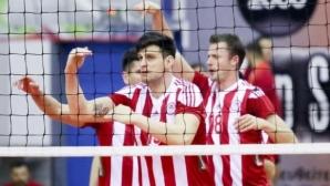 Тодор Алексиев е №1, Олимпиакос се класира за финалната четворка за Купата на Гърция (снимки)