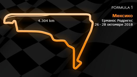 19 кръг: Гран При на Мексико 26-28 октомври 2018