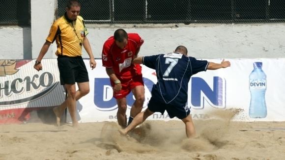 България с три отбора в Шампионската лига по плажен футбол