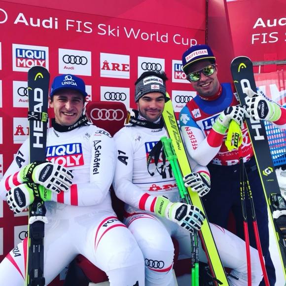 Австрийци разделиха първото място в спускането в Оре
