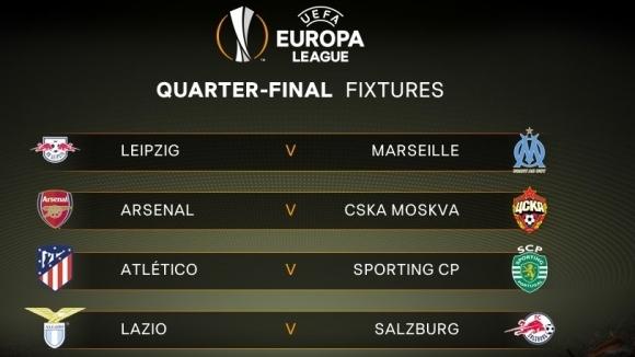 Арсенал и Атлетико се разминаха в Лига Европа (жребият тук)