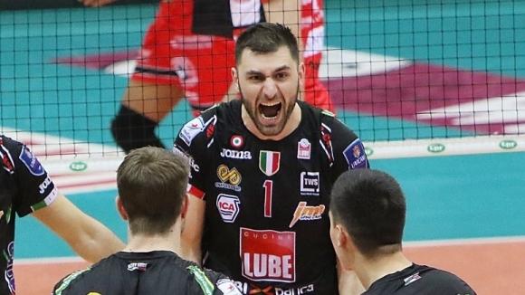 Фантастичен Цецо Соколов с 30 точки, Лубе на полуфинал след драма срещу Йосифов и Пиаченца