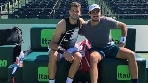 Григор Димитров тренира с човека, който го победи в Маями