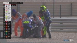 Зарко оглави третата тренировка от MotoGP в Катар, Роси катастрофира