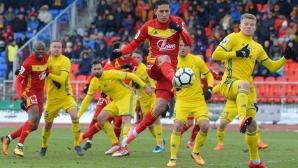 Мишо Александров се завърна сред титулярите, Дзюба носи точка на Арсенал (видео)