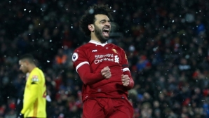 Феноменалният Салах върна настроението на Ливърпул (видео)