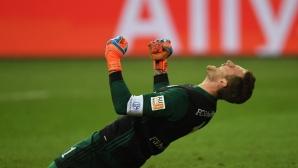 Партито в Мюнхен се отлага заради автогол и спасена дузпа (видео)
