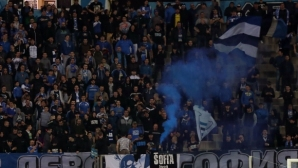 Феновете на Левски започнаха да се събират преди дербито (видео)