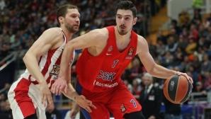 ЦСКА (Москва) си гарантира първото място в редовния сезон на Евролигата, Барса губи