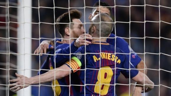 Барселона направи голяма крачка към полуфиналите в ШЛ (видео + галерия)