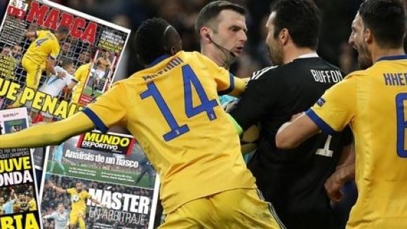 """Италианската и каталунската преса обявиха дузпата за Реал за """"кражбата на века"""", Мадрид им опонира"""