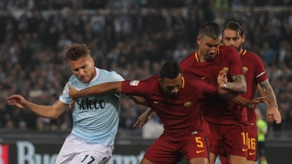 Лацио и Рома продължават ръка за ръка в битката за ШЛ (видео + галерия)
