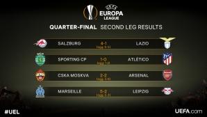 Станаха ясни полуфиналистите в Лига Европа