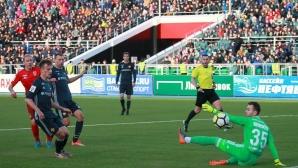 ЦСКА (М) без Миланов се добра само до точка срещу Уфа (видео)