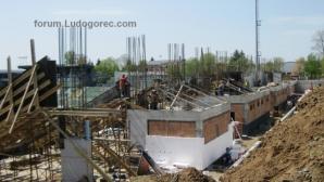 """Напредва строителството на новия сектор за гости на стадион """"Лудогорец Арена"""""""