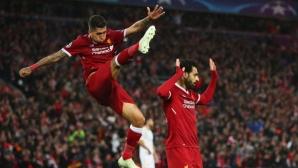 Луд, луд Ливърпул, феноменален Салах, 7 гола, но Рома се закачи за реванша