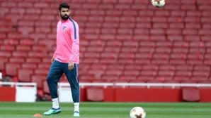 Диего Коща готов за двубоя с Арсенал