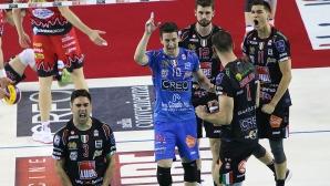 Цецо Соколов най-резултатен за отбора си във втория финал за титлата в Италия