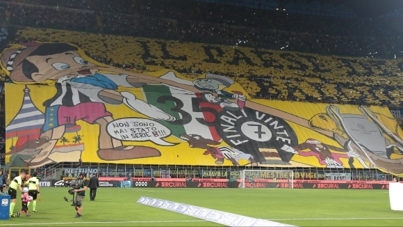 Сериозна подкрепа за Интер по трибуните срещу Сасуоло