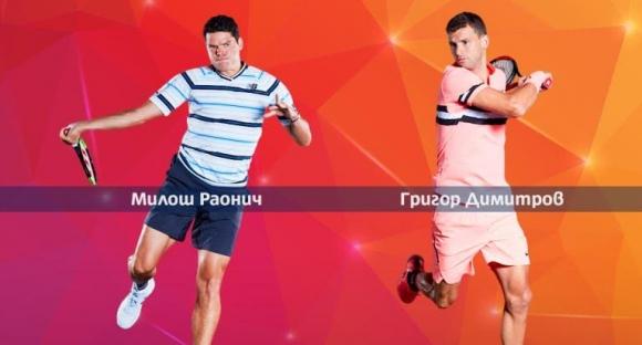 Дебютният мач на Григор Димитров в Мадрид срещу Милош Раонич пряко по Mtel Sport 1
